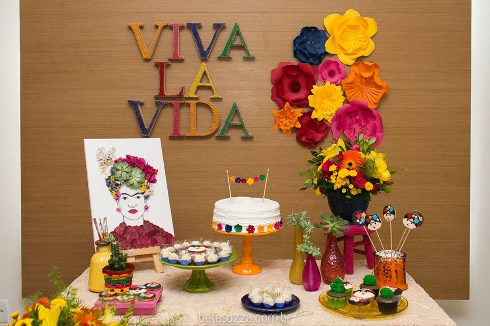 Decora o inspirada em frida kahlo inspire sua festa for Cuartos decorados de frida kahlo