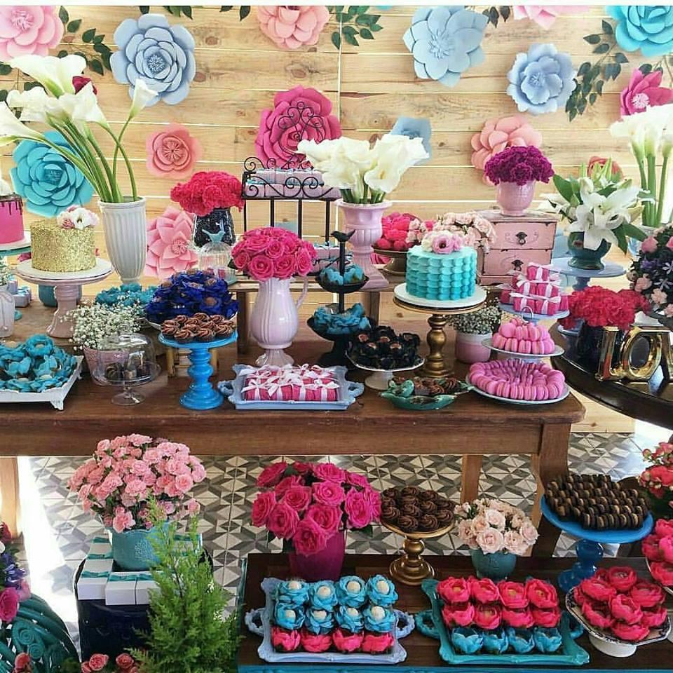 Confiram as tend u00eancias para Festa Infantil em 2017 u2013 Inspire sua Festa -> Decoração De Aniversário Com Flores Gigantes