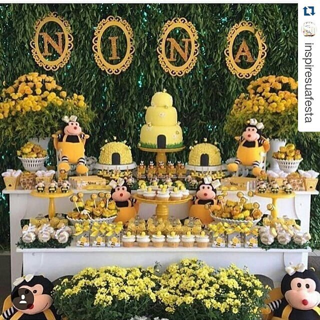 Festa Abelhinha mais de 30 ideias u2013 Inspire sua Festa -> Decoracao De Girassol Para Aniversario