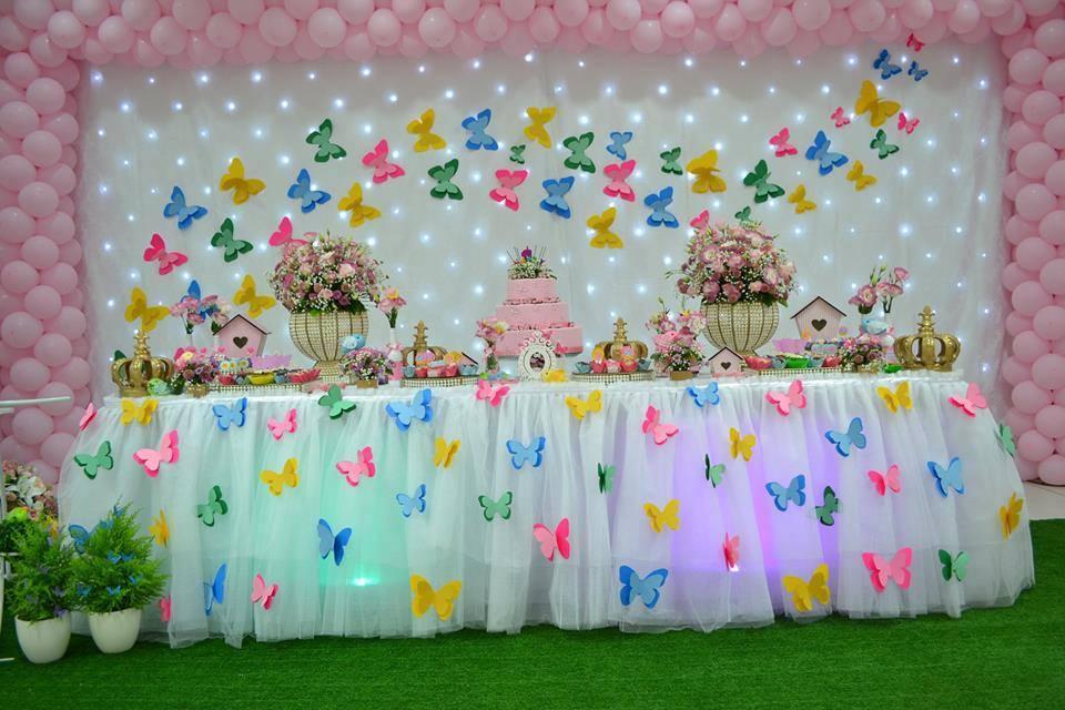 Decoraç u00e3o Jardim Encantado Mais de 30 ideias u2013 Inspire sua Festa -> Decoração De Aniversario Jardim Encantado Das Borboletas