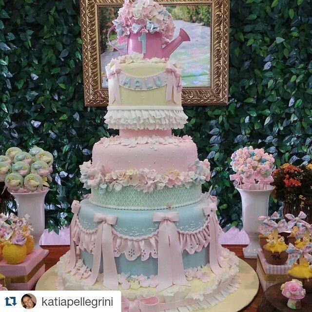 Mais de 20 ideias de bolo com o tema Jardim Encantado – Inspire sua