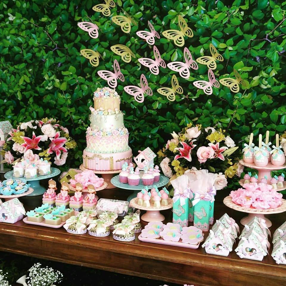 Decoraç u00e3o Jardim Encantado Mais de 30 ideias u2013 Inspire sua F -> Decoração De Festa De Aniversario Jardim Encantado