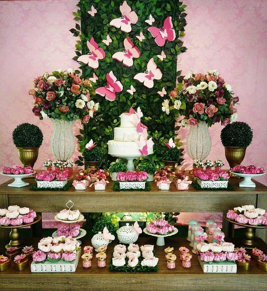 Inspire sua Festa u00ae Blog Festa e Maternidade -> Decoração De Festa De Aniversario Jardim Encantado