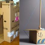 Brinquedos de papelão para divertir as crianças