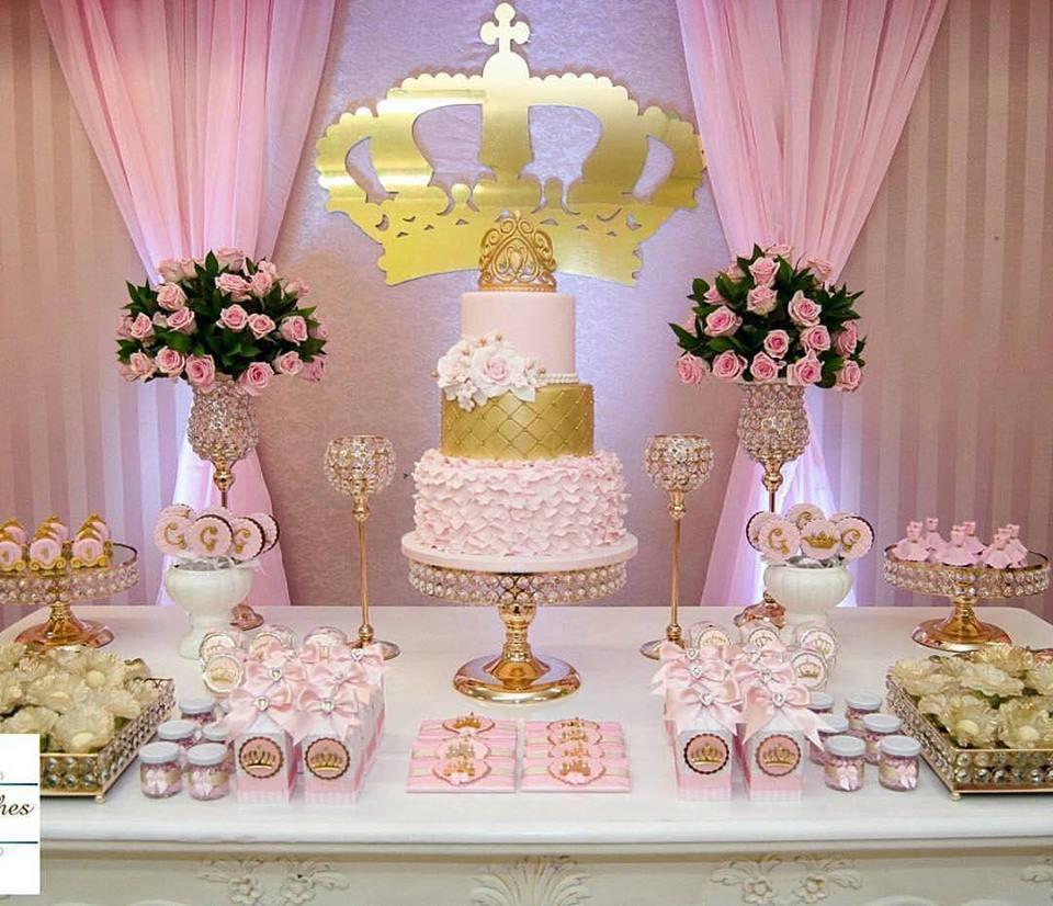 Decoraç u00e3o Princesa Realeza mais de 50 ideias u2013 Inspire sua Festa -> Decoração De Festa Infantil Realeza Luxo