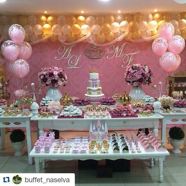 Inspire sua Festa u00ae Blog Festa e Maternidade -> Decoração De Festa Infantil Realeza Luxo