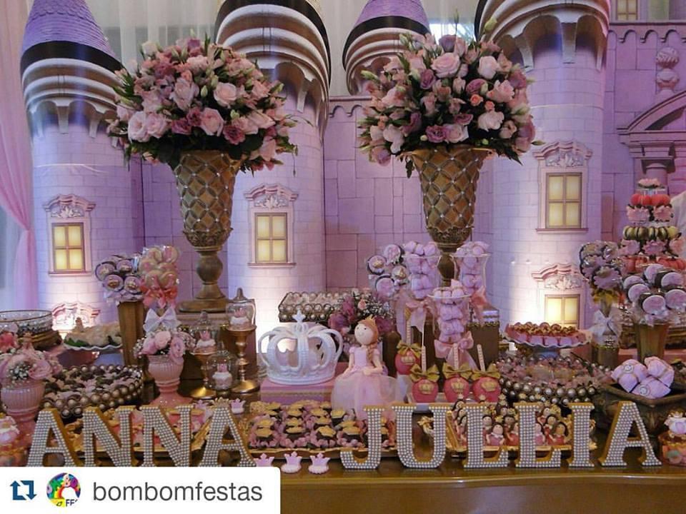 Inspire sua Festa u00ae Blog Festa e Maternidade # Decoração De Festa Infantil Realeza Luxo
