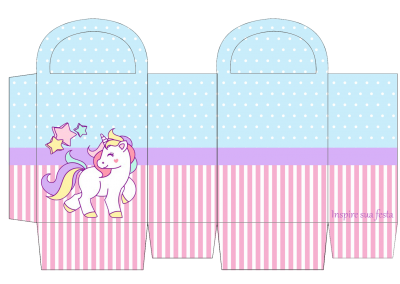Sacolinha-para-guloseimas-personalizada-gratuita-unicornio-