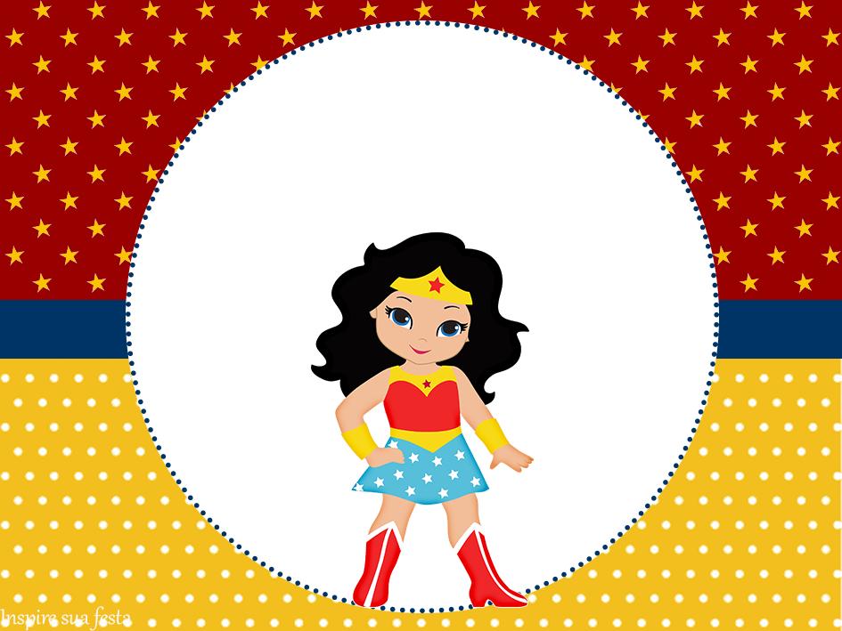 Mulher Maravilha kids: Personalizados gratuitos