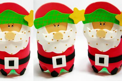 Lembrancinha do Papai Noel de Garrafa Pet – Como fazer