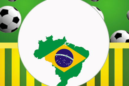 41041dd455a549 Brasil - Copa do Mundo - Kit festa grátis para imprimir