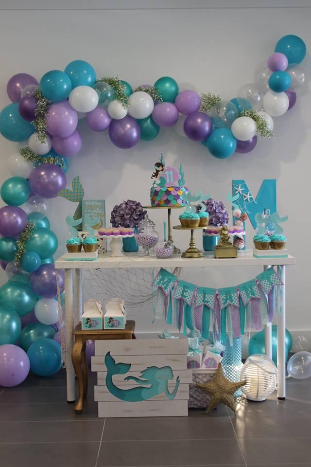 Inspire sua Festa u00ae Blog Festa e Maternidade -> Decoração De Pequena Sereia Simples