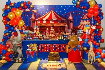 Festa infantil com o tema Circo