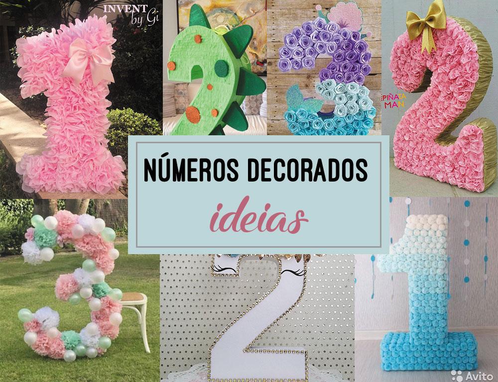 Números decorados – Inspirações