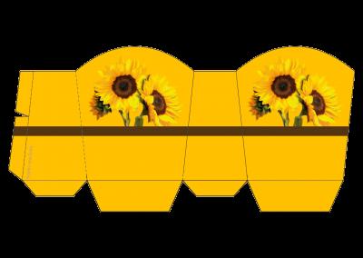 Caixa para guloseimas personalizada gratuita girassol inspire sua festa 1