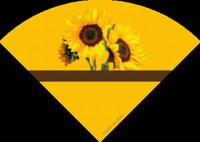 cone personalizado gratuito girassol inspire sua festa 1