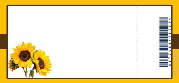 convite ingresso personalizado gratuito girassol inspire sua festa 1