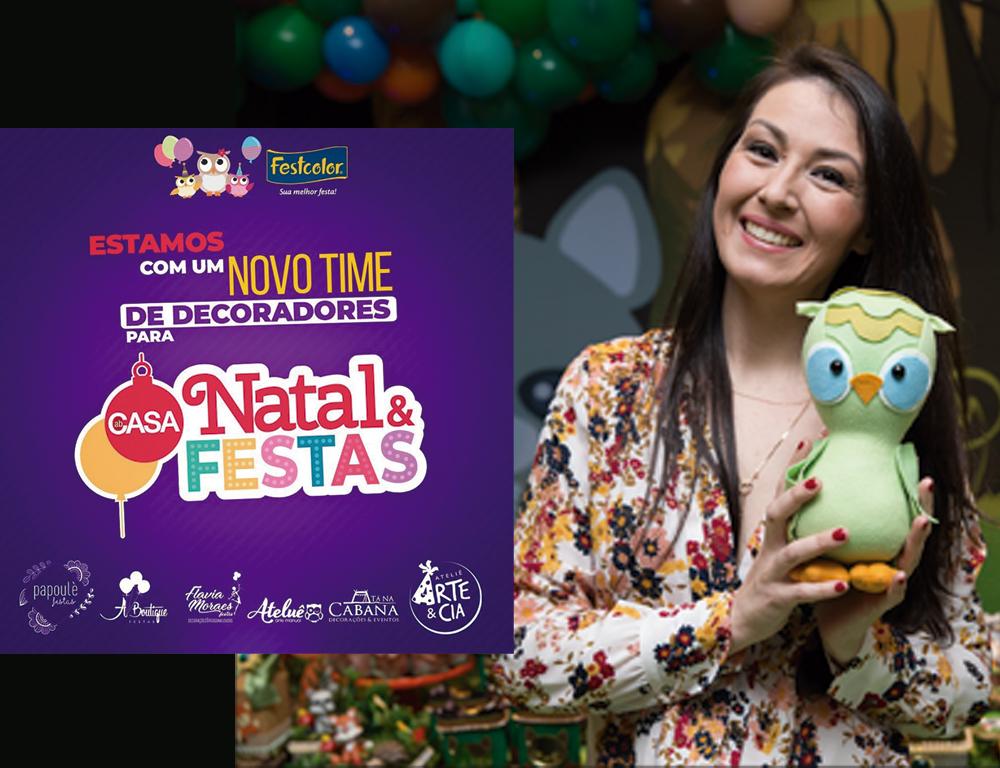 Inspire sua Festa e Festcolor na ABcasa Natal e Festas 2019