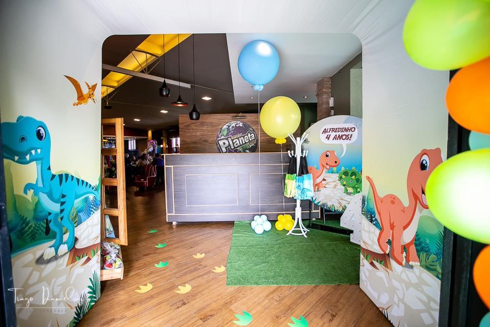 Festa infantil no tema Dinossauros - Alfredinho 4 anos