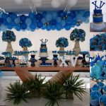 Decoração festa de 15 anos para menino