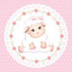 Ovelinha rosa – Kit festa grátis para imprimir