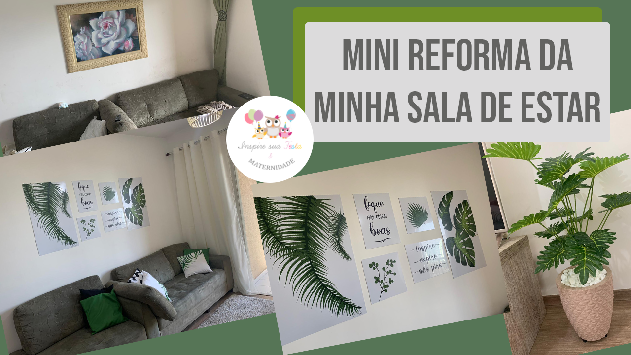 Mini reforma da minha sala de estar