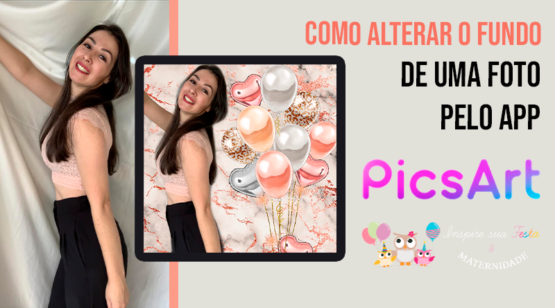 Como trocar o fundo de uma foto – App PicsArt