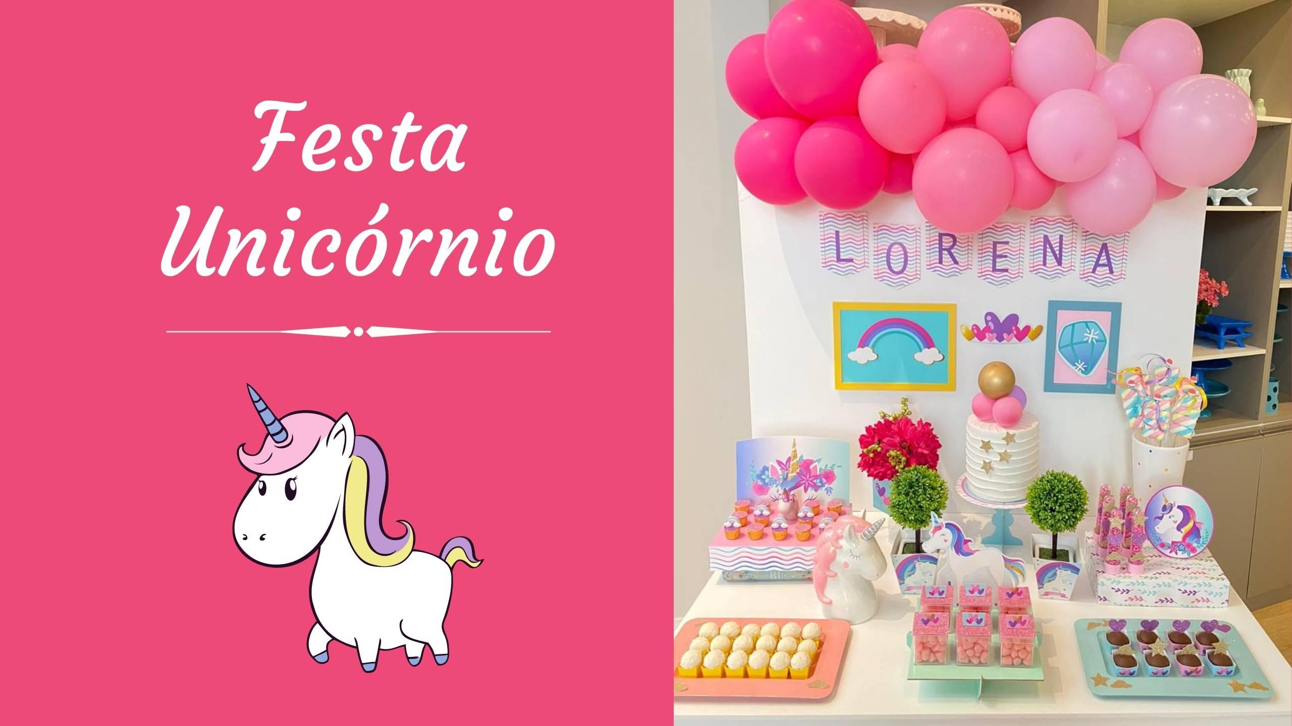 Festa Unicórnio – Kit festa em casa Happy Day Balões