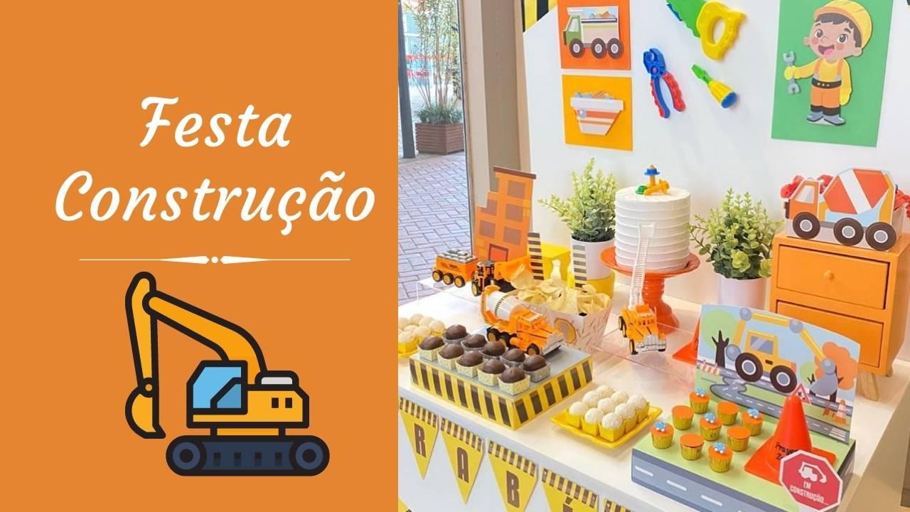 Festa construção – Kit festa em casa Happy Day Balões