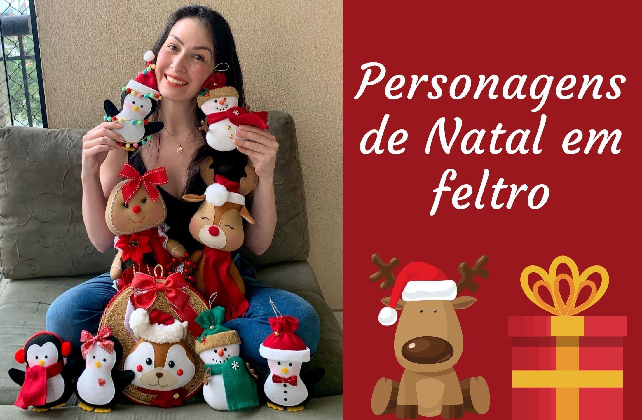 Personagem de Natal em feltro – Natal 2020