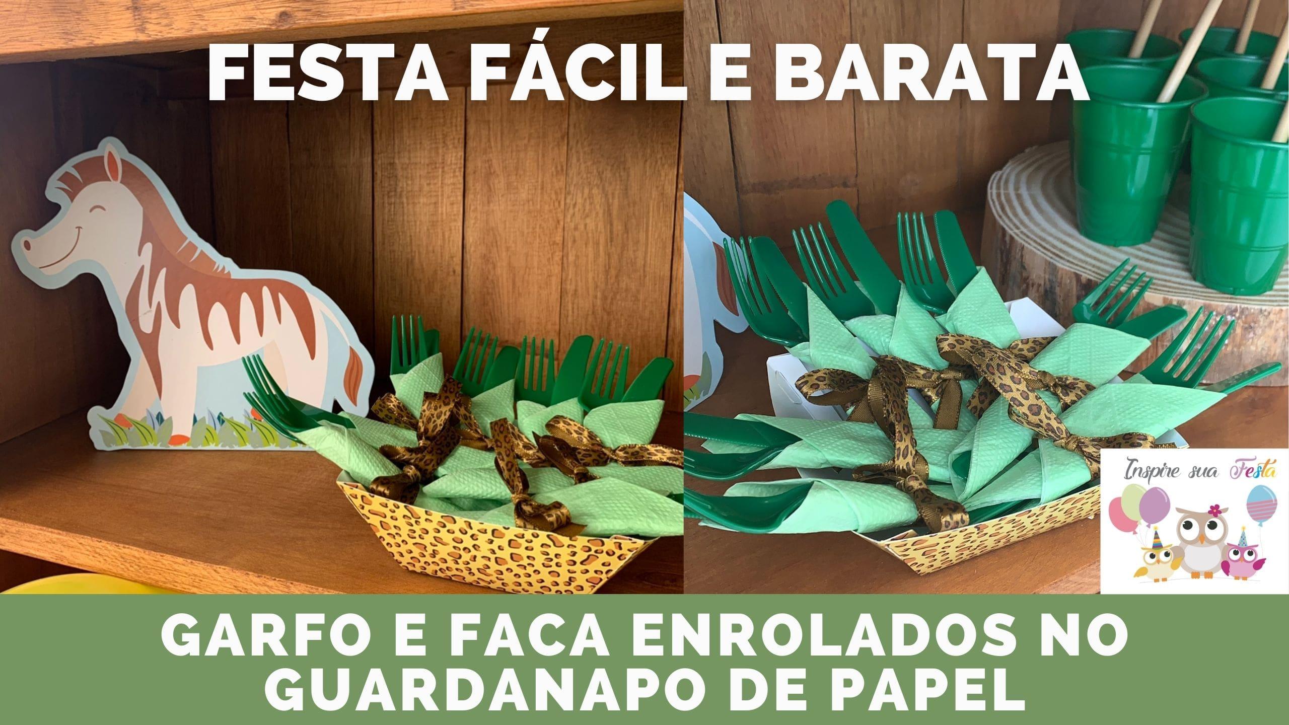 Como enrolar talheres no guardanapo de papel – Festa fácil e barata