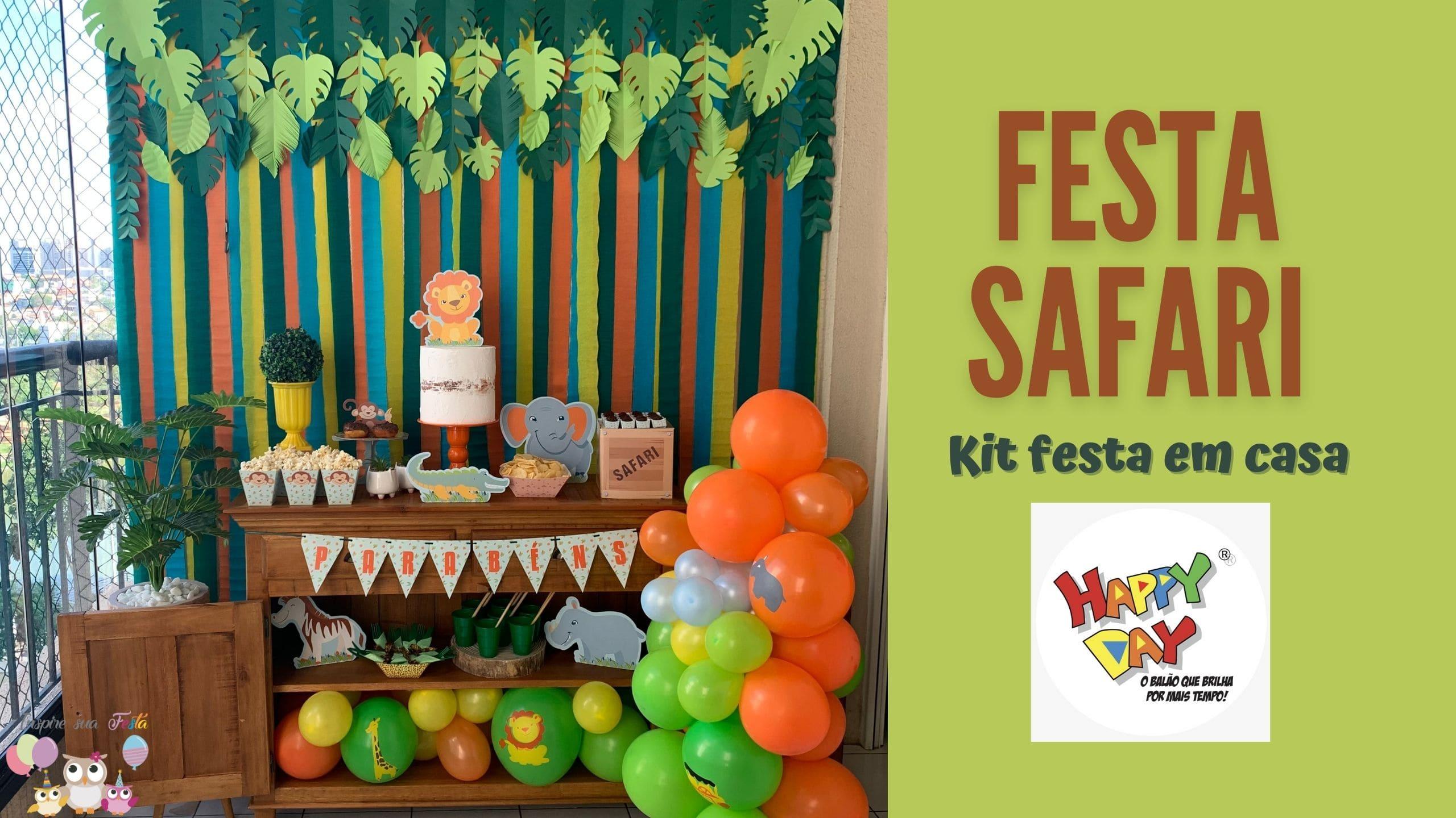 Decoração Safari/ Festa em casa/ Happy Day Balões