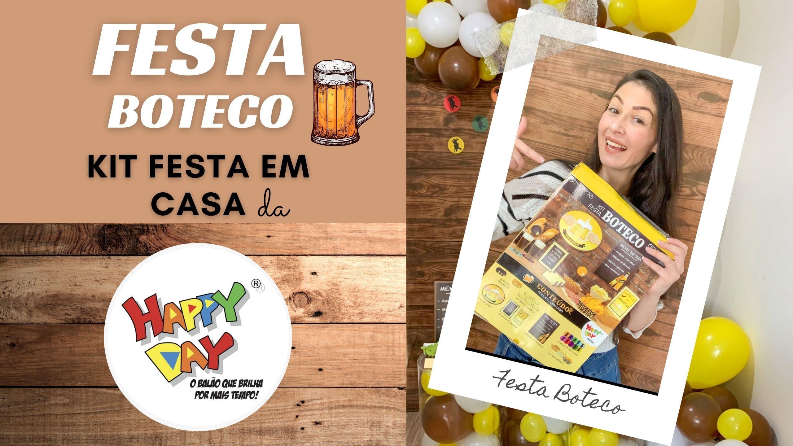 Festa Boteco – Kit festa em casa da Happy Day Balões