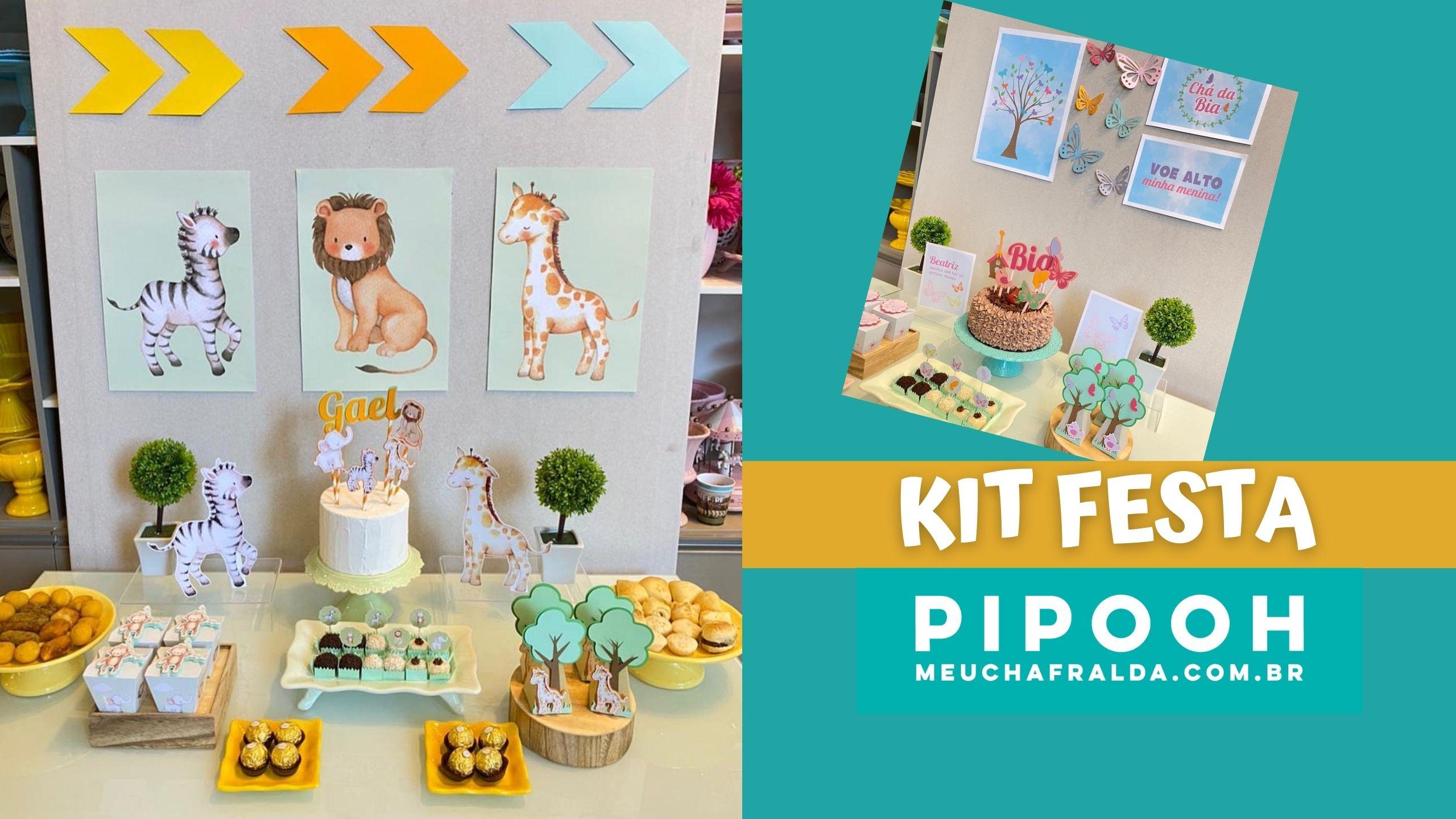 Kit Festa Chá de bebê/Chá de Fraldas da Pipooh