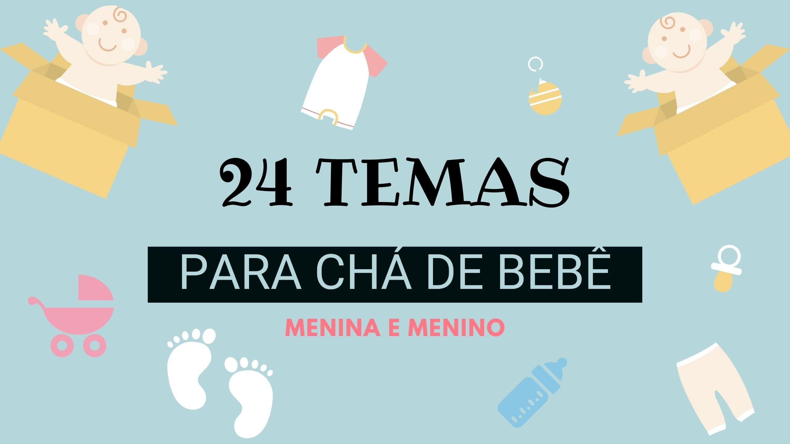 24 temas para Chá de Bebê/Fraldas – Pipooh