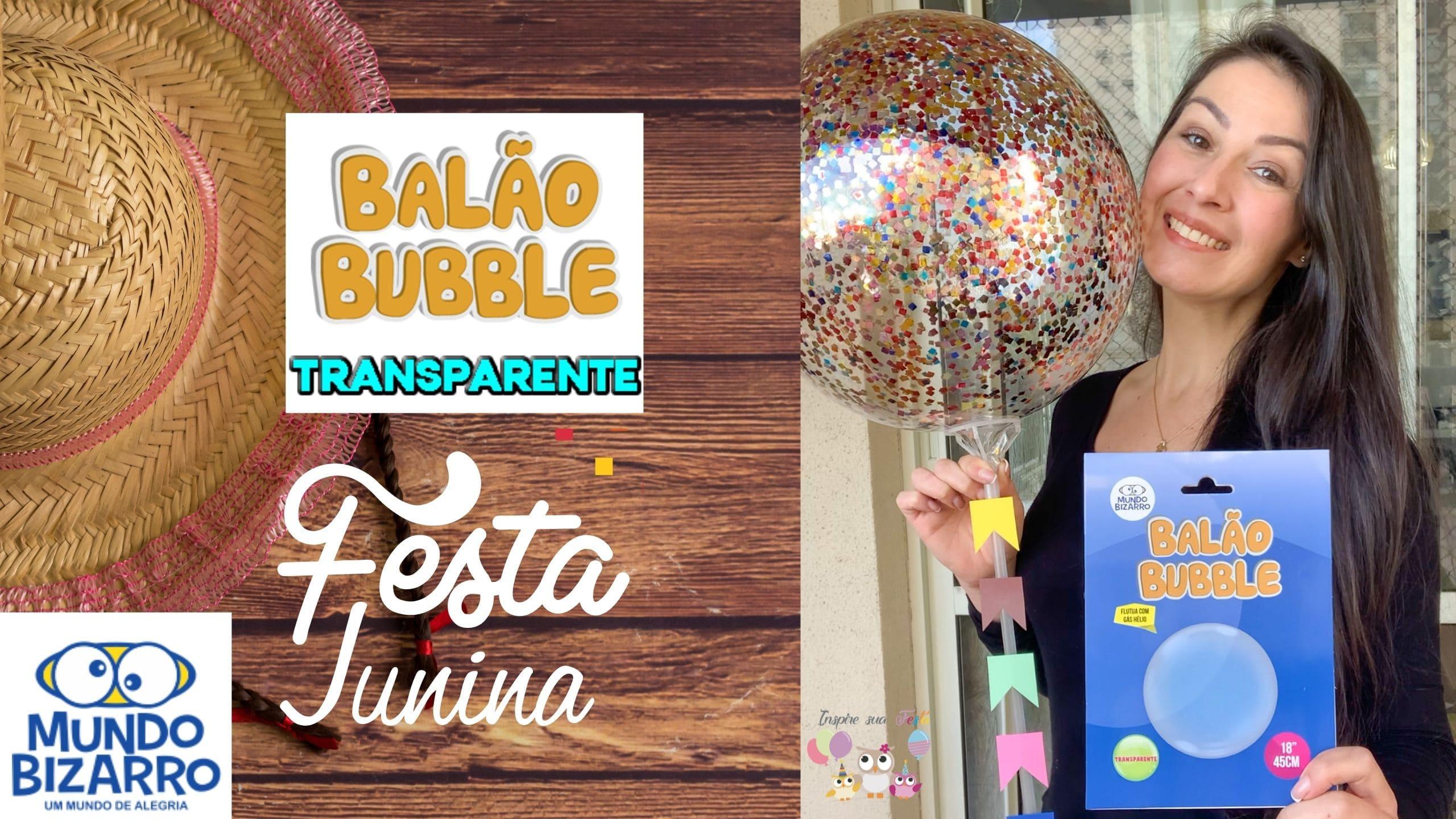 Como inflar um Balão Bubble e colocar Confete Colorido