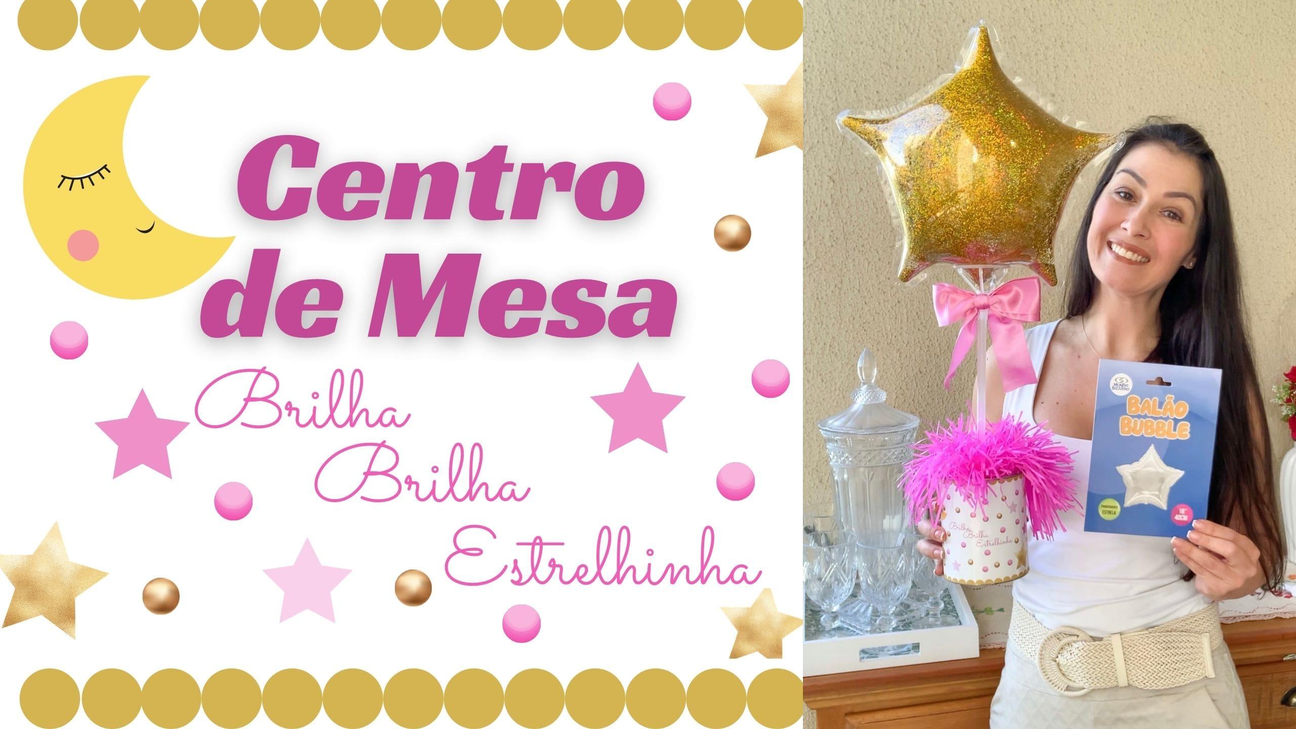 Centro de Mesa Brilha Brilha Estrelinha – Lata de leite decorada