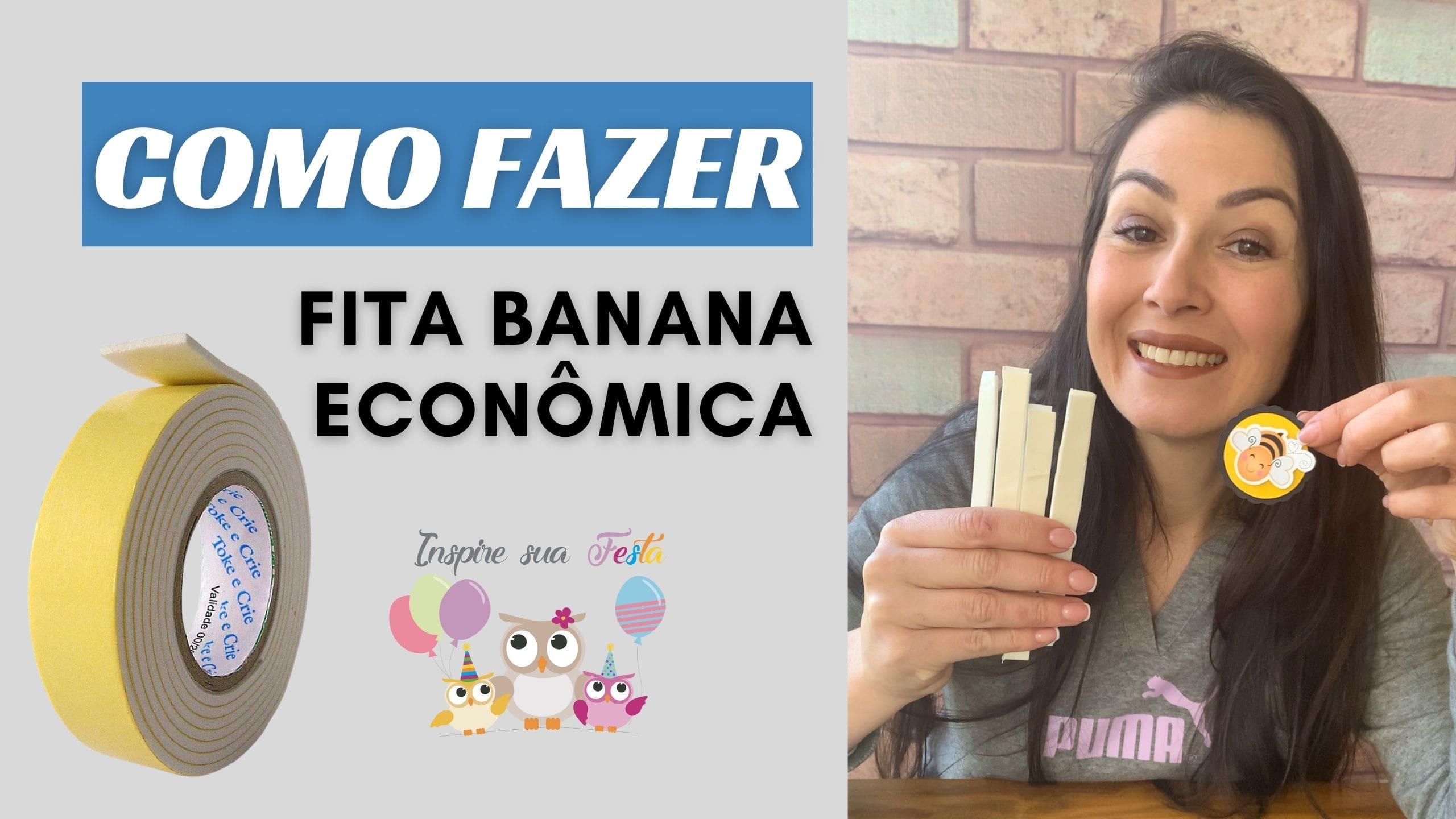 Como fazer fita banana com EVA/ Fita banana caseira
