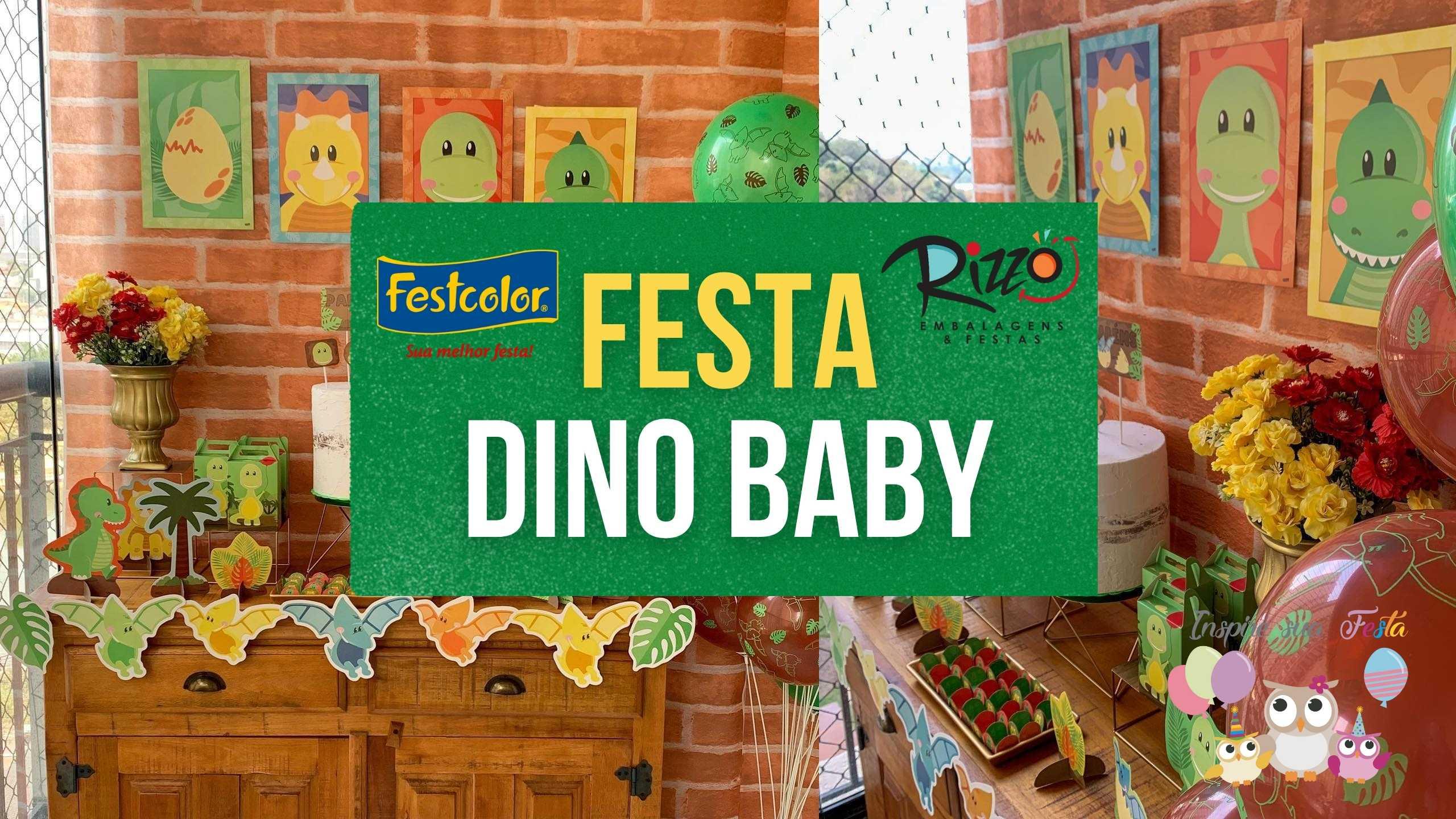 Festa no tema Dinossauro Baby por FestColor